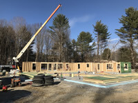 Uplift's new five unit building in Winthrop, Maine by BH Builders, Inc.